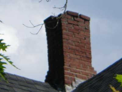 Brick chimney decay.