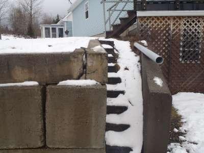 Retaining wall repairs.