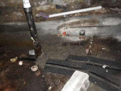 Stolen copper plumbing.