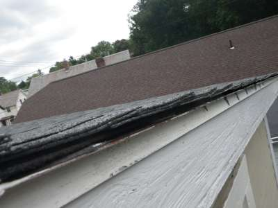 Multi layered roof surface.