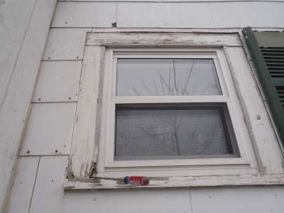Window trim decay.