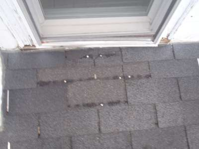 Repaired shingle area.