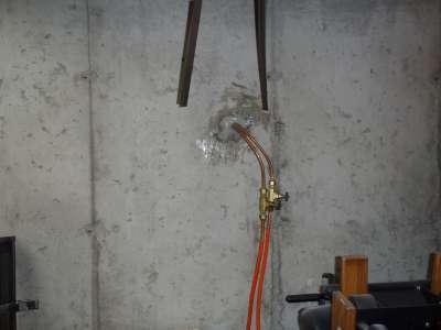 Underground oil tank.