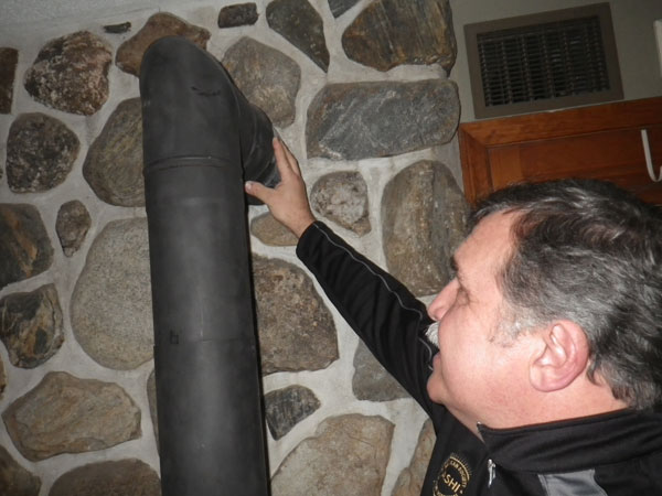 Steve inspection a stove pipe